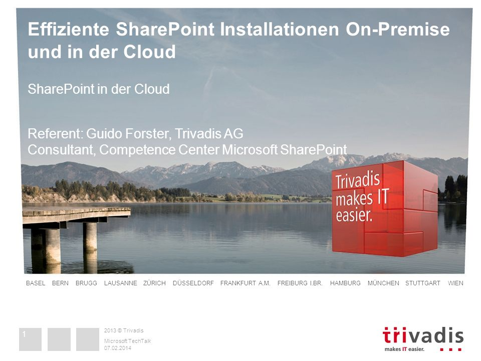 Effiziente SharePoint Installationen On-Premise und in der Cloud