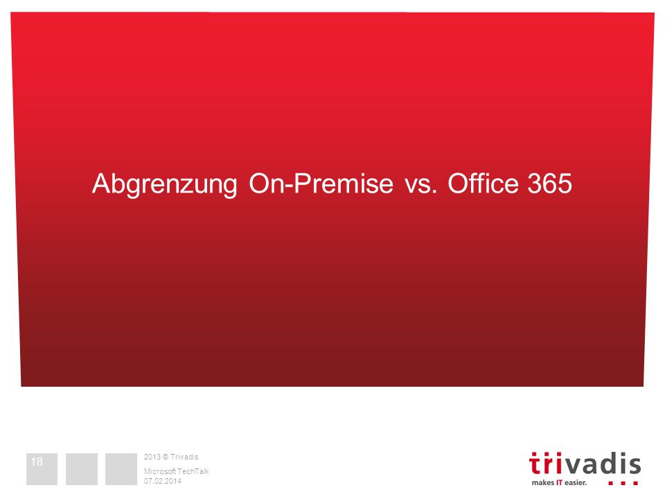 Abgrenzung On-Premise vs. Office 365