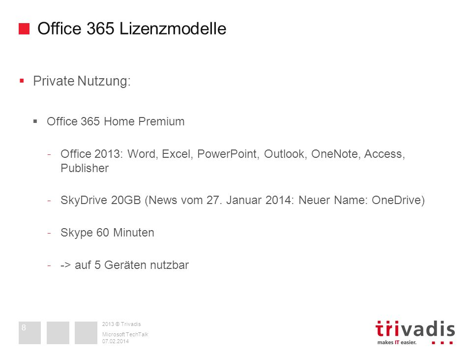 Office 365 Lizenzmodelle Private Nutzung: Office 365 Home Premium
