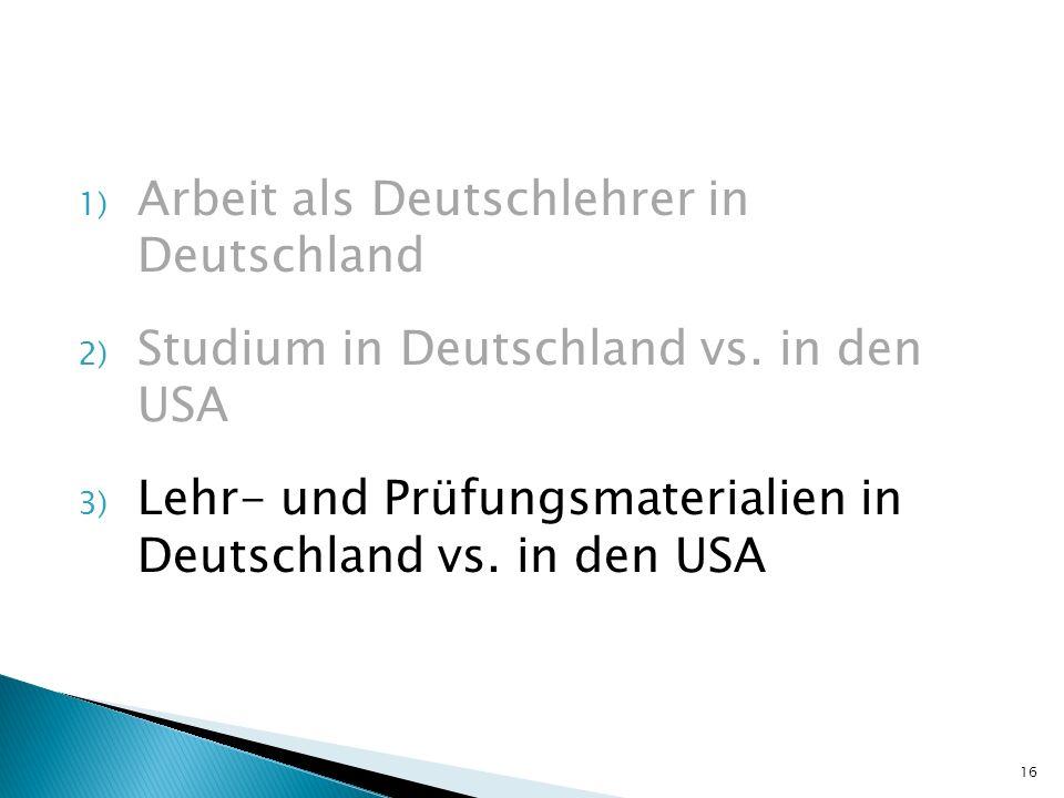 Arbeit als Deutschlehrer in Deutschland
