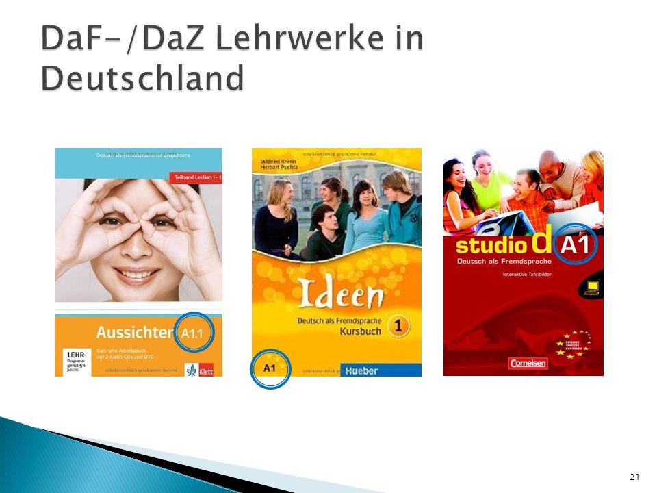 DaF-/DaZ Lehrwerke in Deutschland