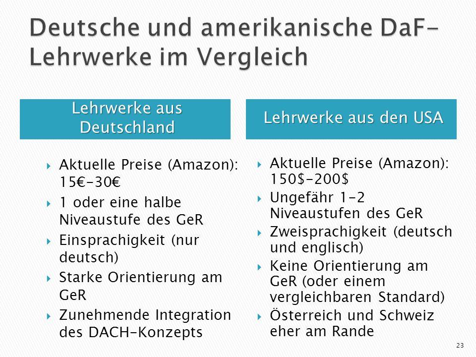 Deutsche und amerikanische DaF-Lehrwerke im Vergleich
