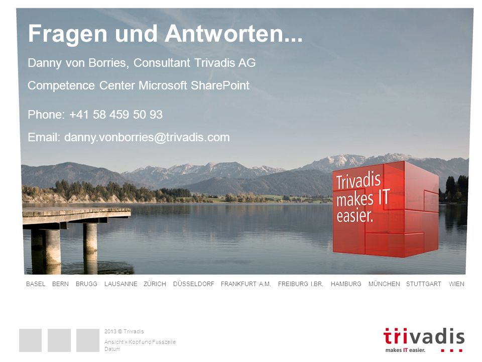 Danny von Borries, Consultant Trivadis AG