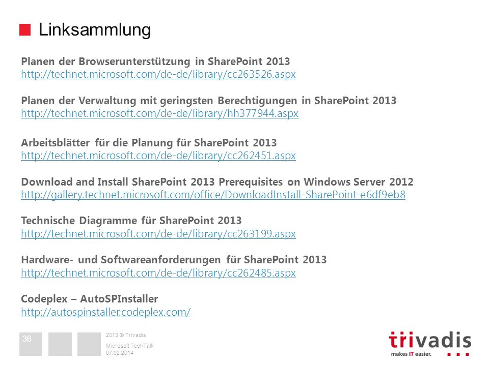 Linksammlung Planen der Browserunterstützung in SharePoint 2013