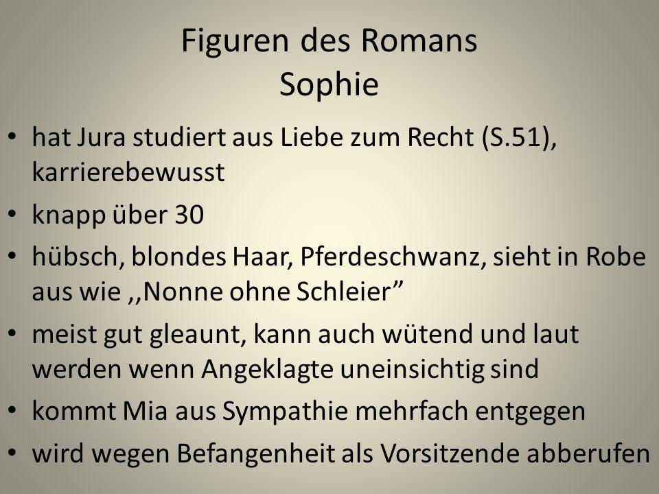 Figuren des Romans Sophie