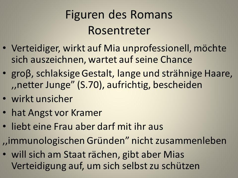 Figuren des Romans Rosentreter