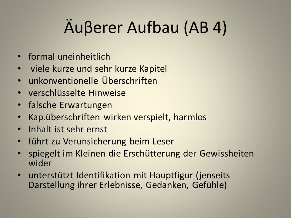 Äuβerer Aufbau (AB 4) formal uneinheitlich