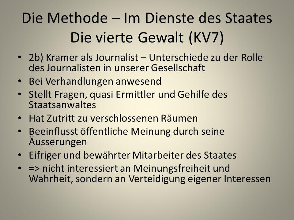 Die Methode – Im Dienste des Staates Die vierte Gewalt (KV7)