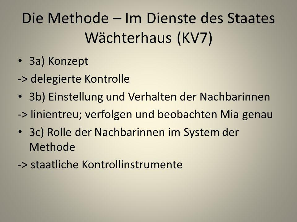 Die Methode – Im Dienste des Staates Wächterhaus (KV7)