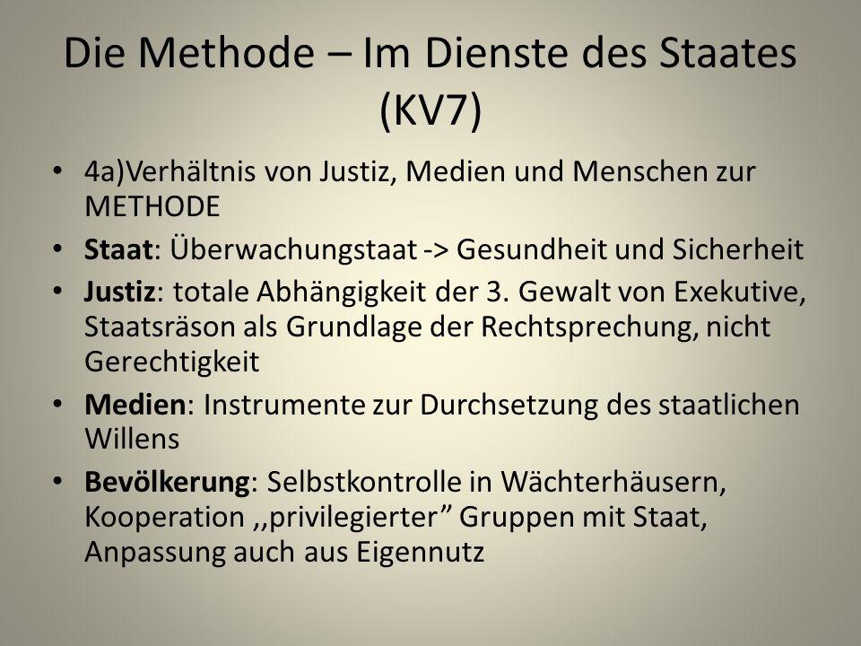 Die Methode – Im Dienste des Staates (KV7)