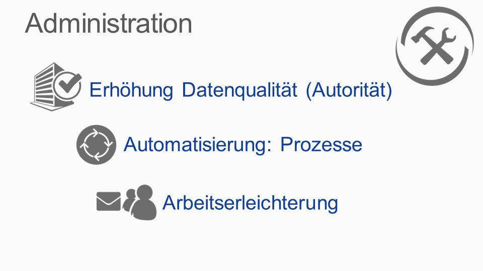 Administration Erhöhung Datenqualität (Autorität)