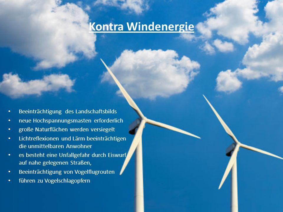 Kontra Windenergie Beeinträchtigung des Landschaftsbilds