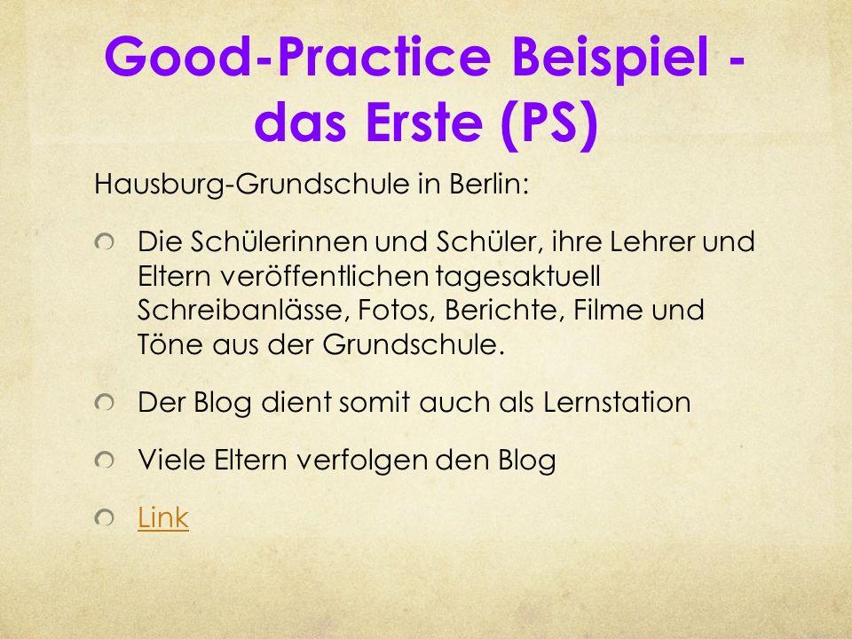Good-Practice Beispiel - das Erste (PS)