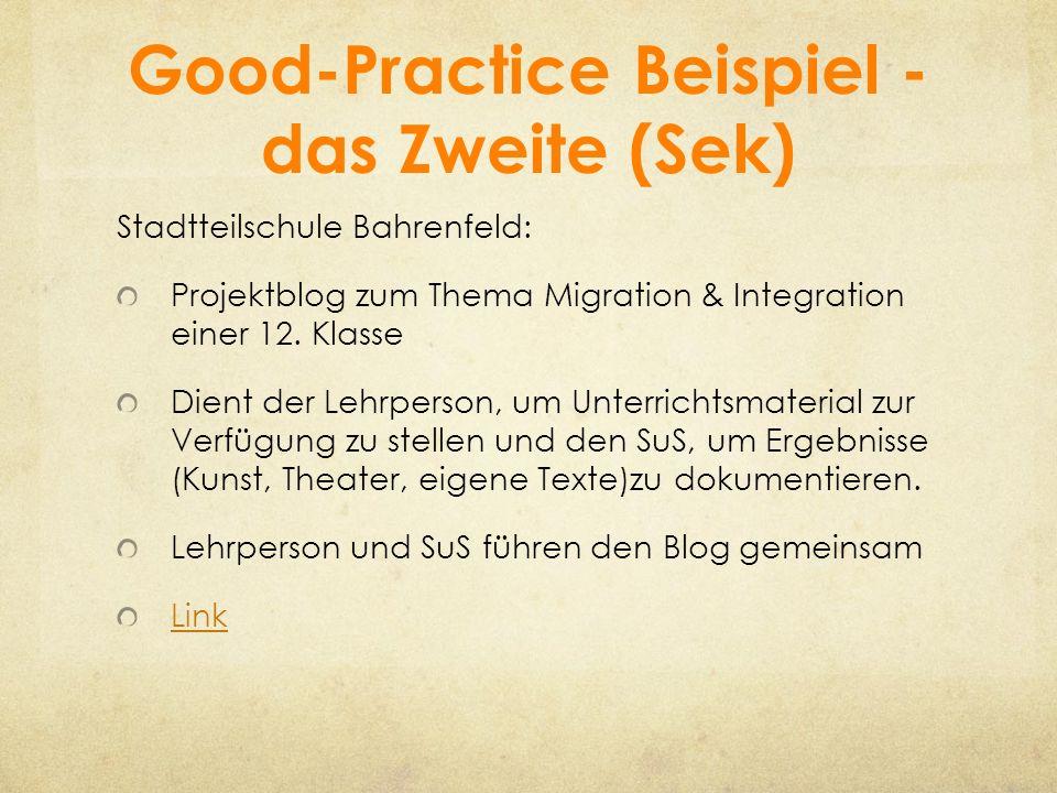 Good-Practice Beispiel - das Zweite (Sek)