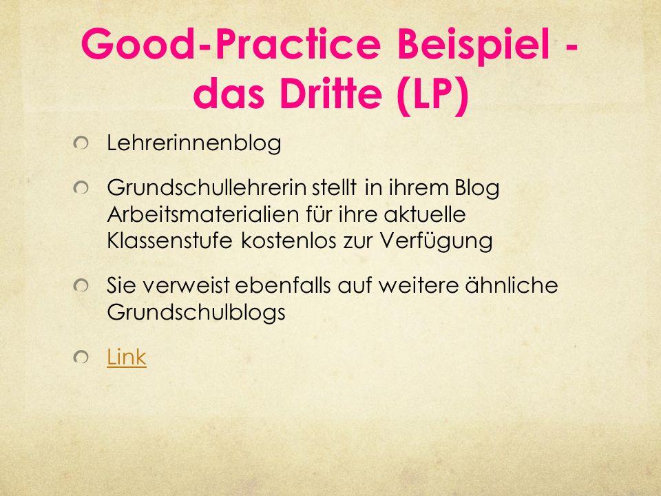 Good-Practice Beispiel - das Dritte (LP)