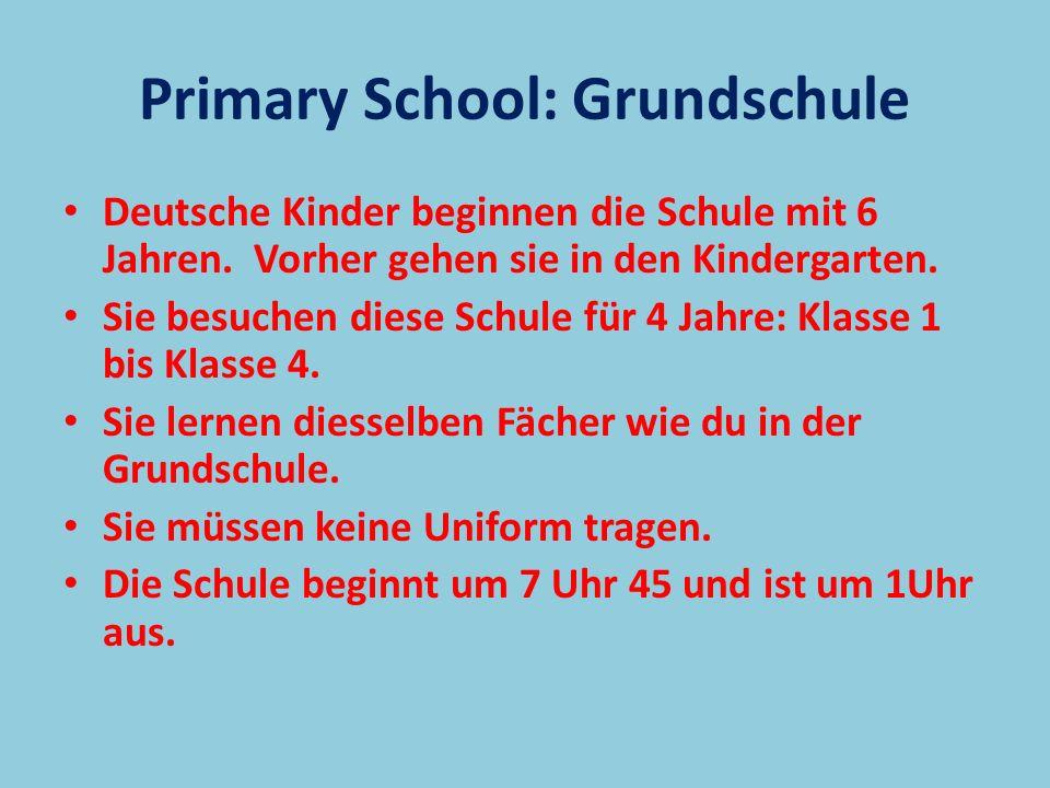 Primary School: Grundschule
