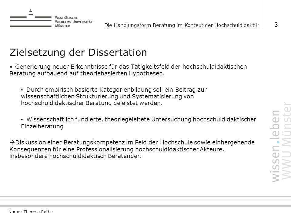 Zielsetzung der Dissertation