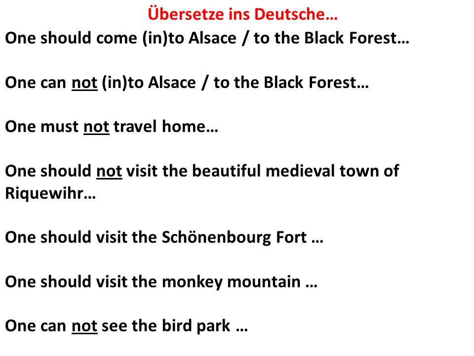 Übersetze ins Deutsche…