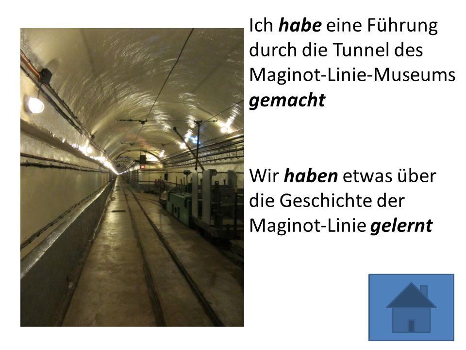 Ich habe eine Führung durch die Tunnel des Maginot-Linie-Museums gemacht