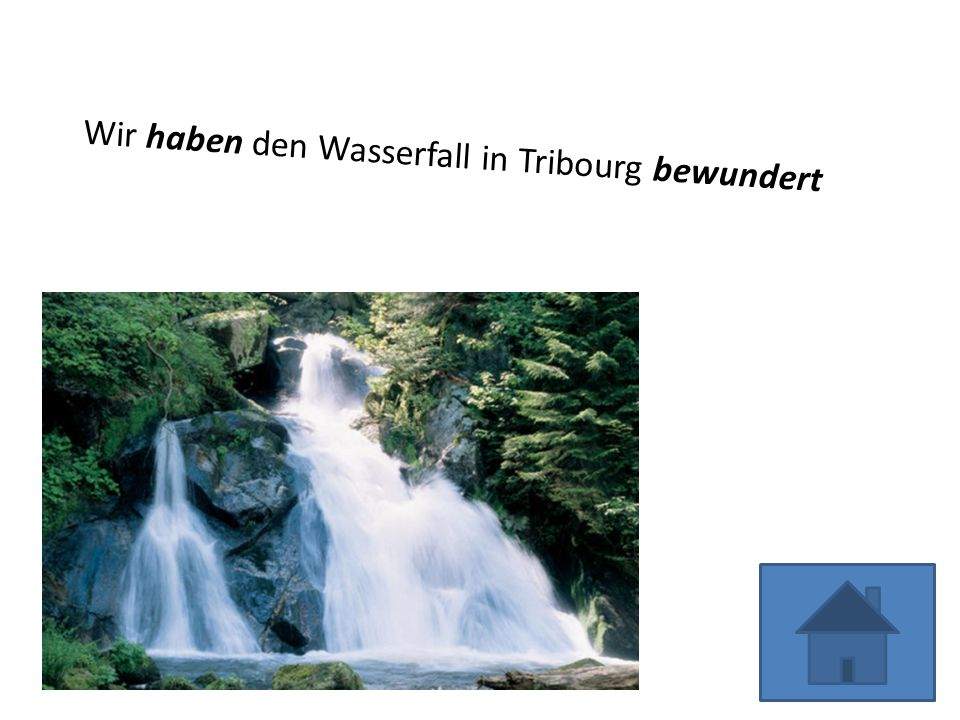 Wir haben den Wasserfall in Tribourg bewundert
