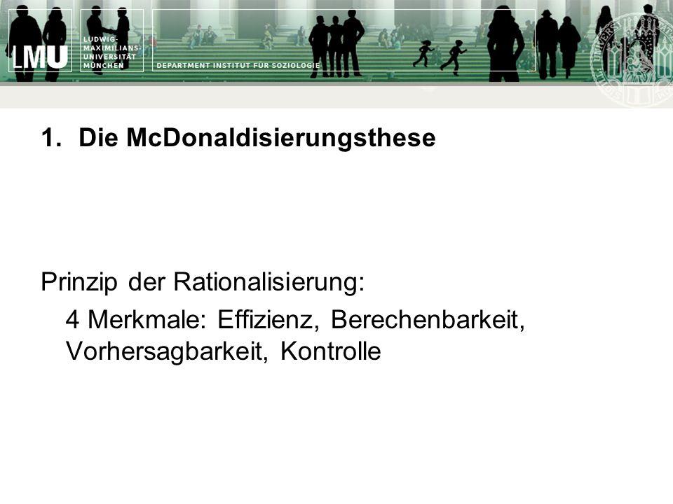 Die McDonaldisierungsthese