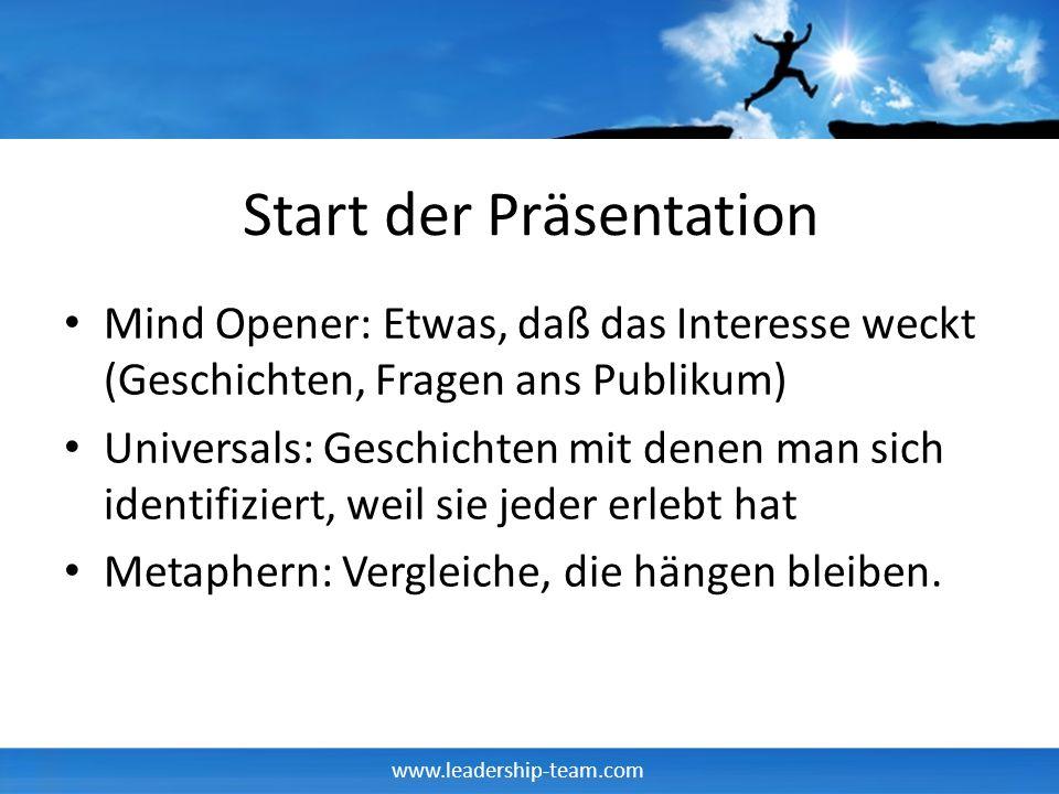 Start der Präsentation