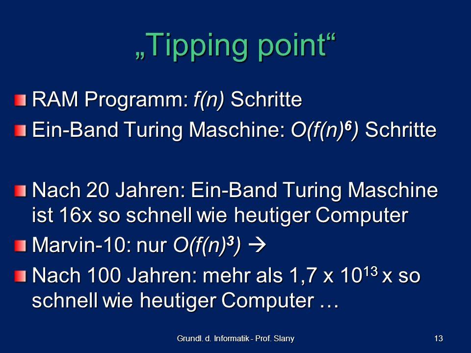 Grundl. d. Informatik - Prof. Slany
