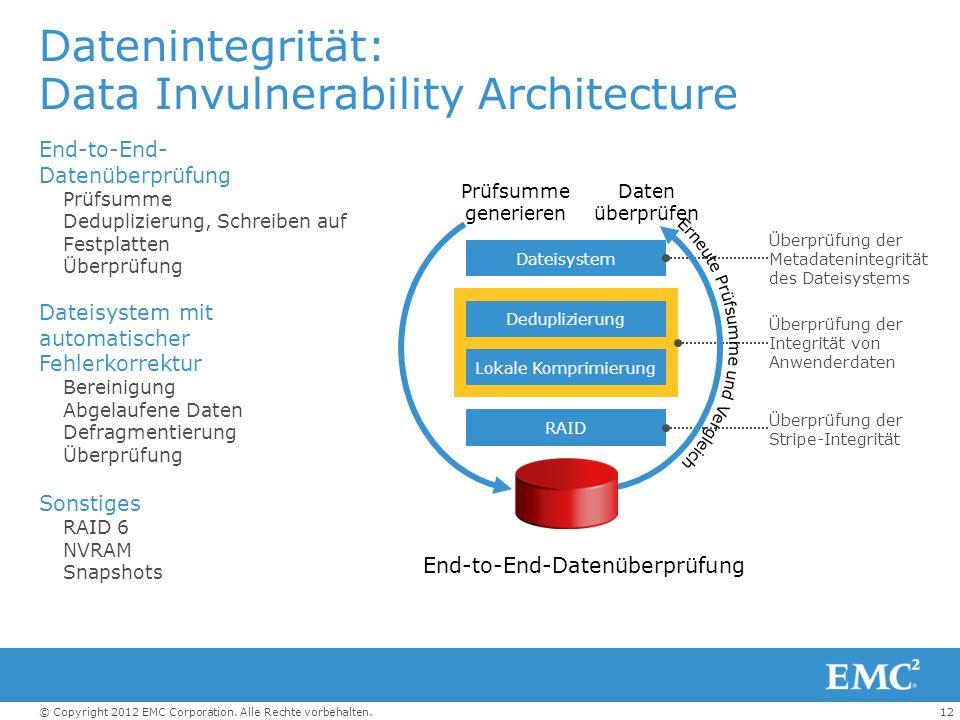 Datenintegrität: Data Invulnerability Architecture