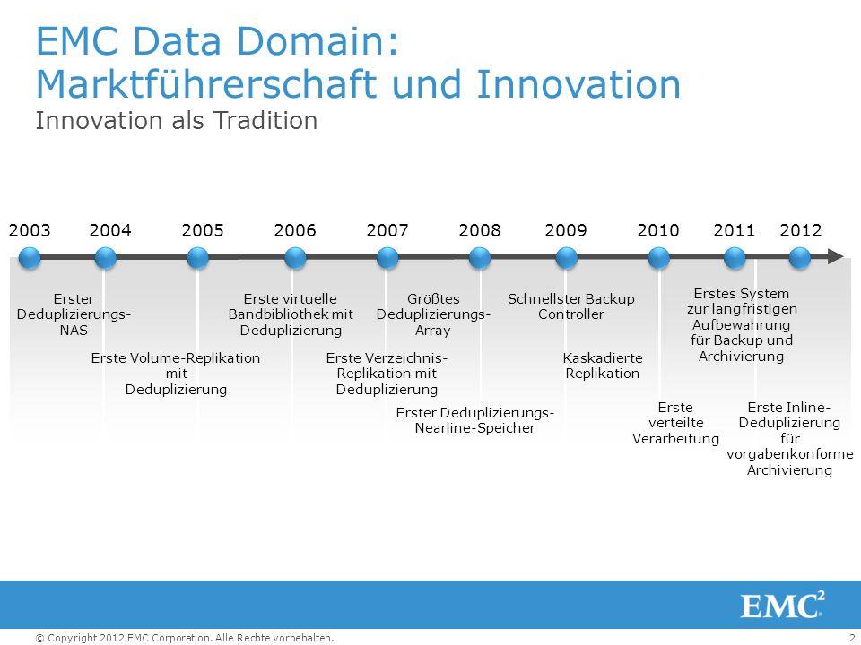 EMC Data Domain: Marktführerschaft und Innovation