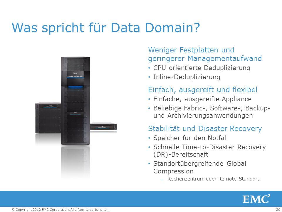 Was spricht für Data Domain