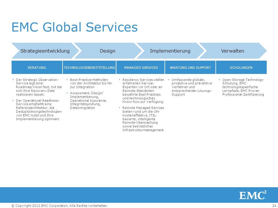 EMC Global Services Strategieentwicklung Design Implementierung