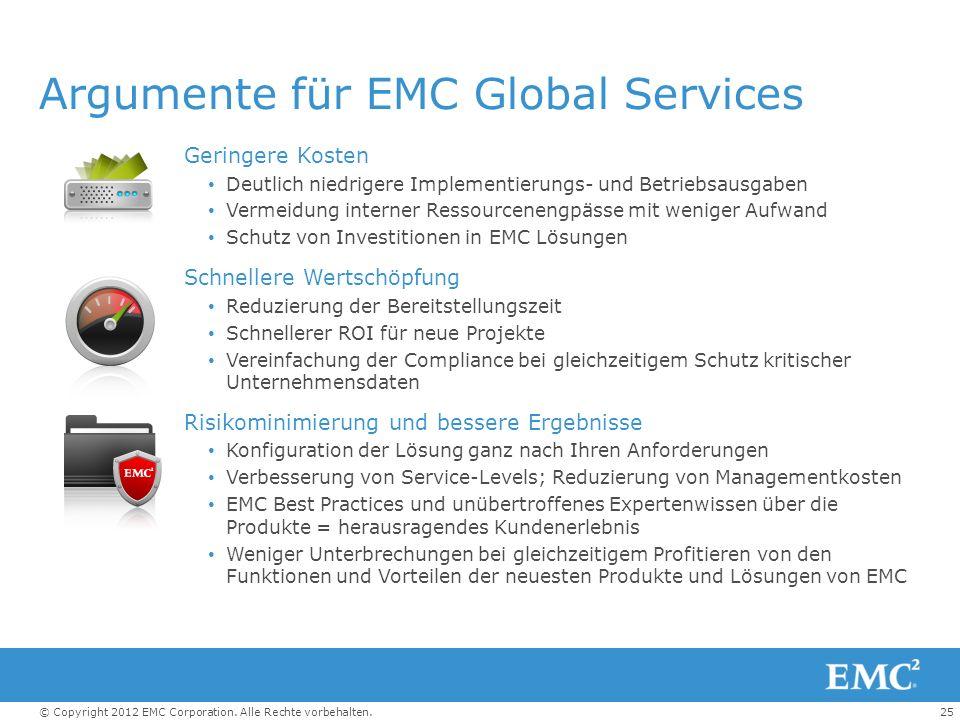 Argumente für EMC Global Services