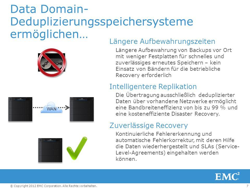 Data Domain-Deduplizierungsspeichersysteme ermöglichen…