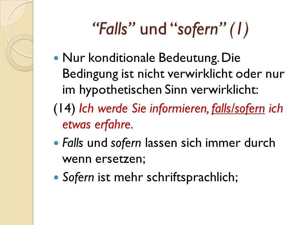 Falls und sofern (1)