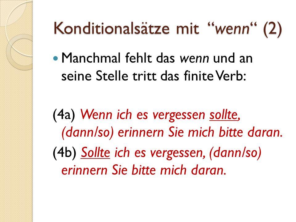 Konditionalsätze mit wenn (2)