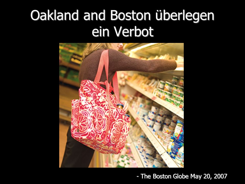Oakland and Boston überlegen ein Verbot