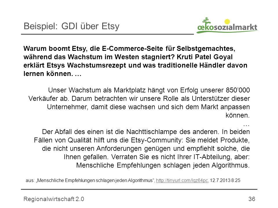 Beispiel: GDI über Etsy