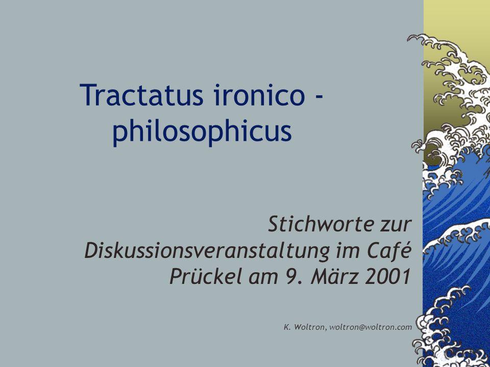 Tractatus ironico - philosophicus