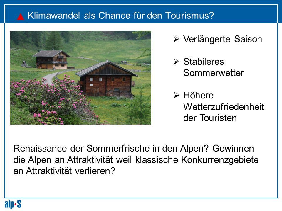 Klimawandel als Chance für den Tourismus
