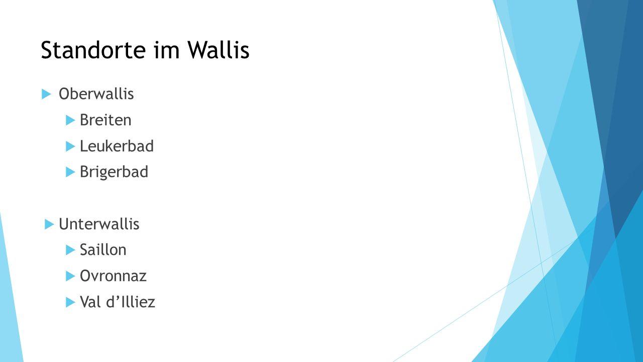 Standorte im Wallis Oberwallis Breiten Leukerbad Brigerbad Unterwallis