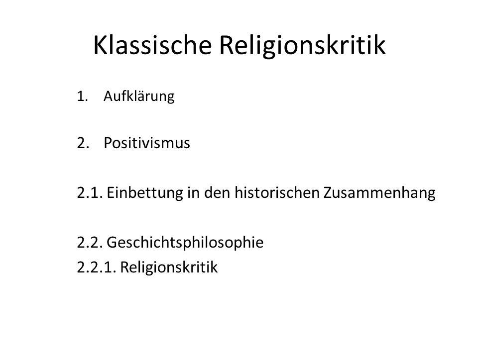 Klassische Religionskritik