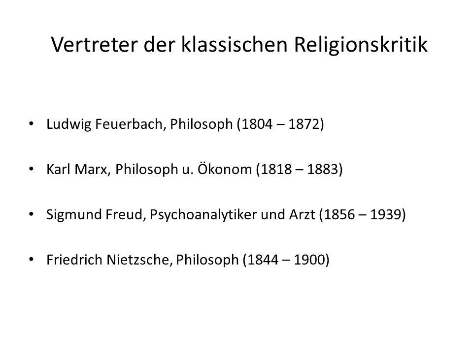Vertreter der klassischen Religionskritik