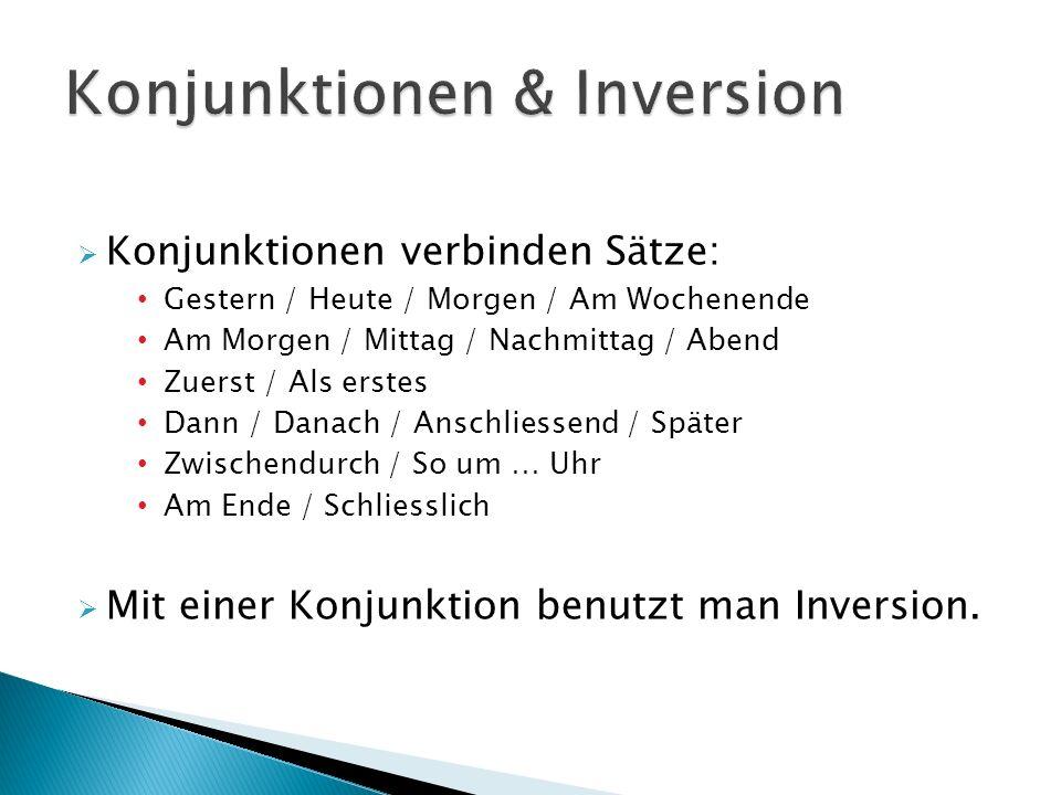 Konjunktionen & Inversion