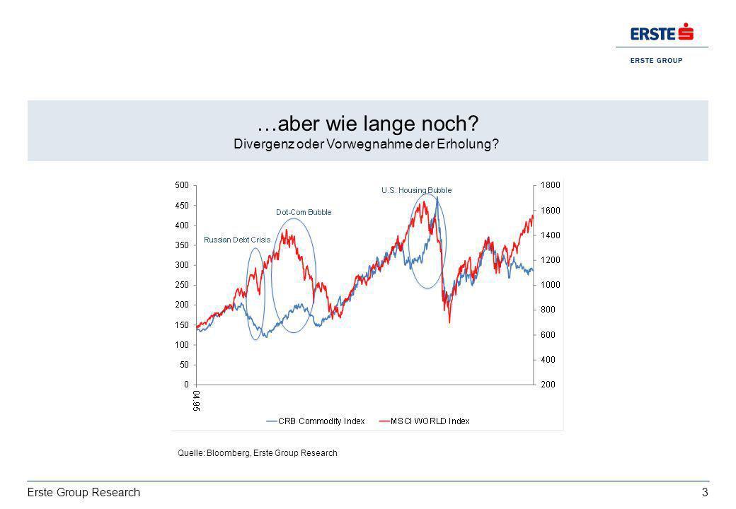 …aber wie lange noch Divergenz oder Vorwegnahme der Erholung Wachstum: deutsche Exporte bestimmt von 'USA vs. Italien'