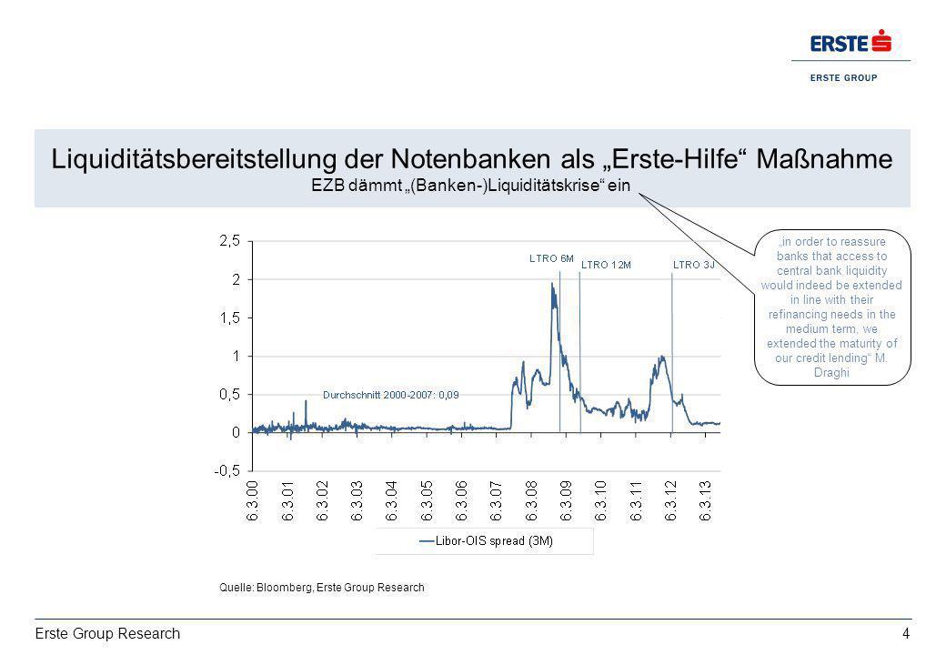 """Liquiditätsbereitstellung der Notenbanken als """"Erste-Hilfe Maßnahme"""