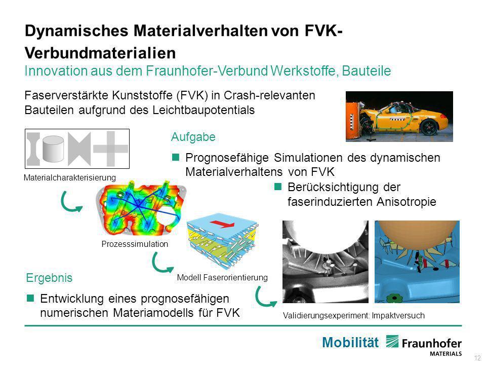 Dynamisches Materialverhalten von FVK-Verbundmaterialien
