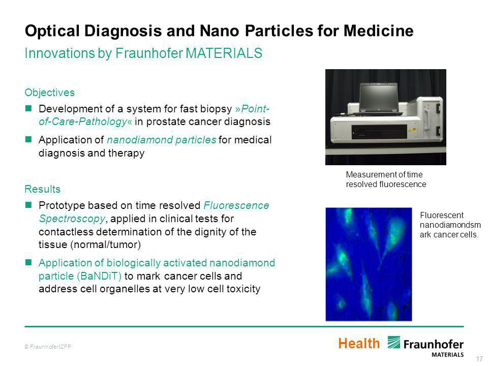 Optical Diagnosis and Nano Particles for Medicine
