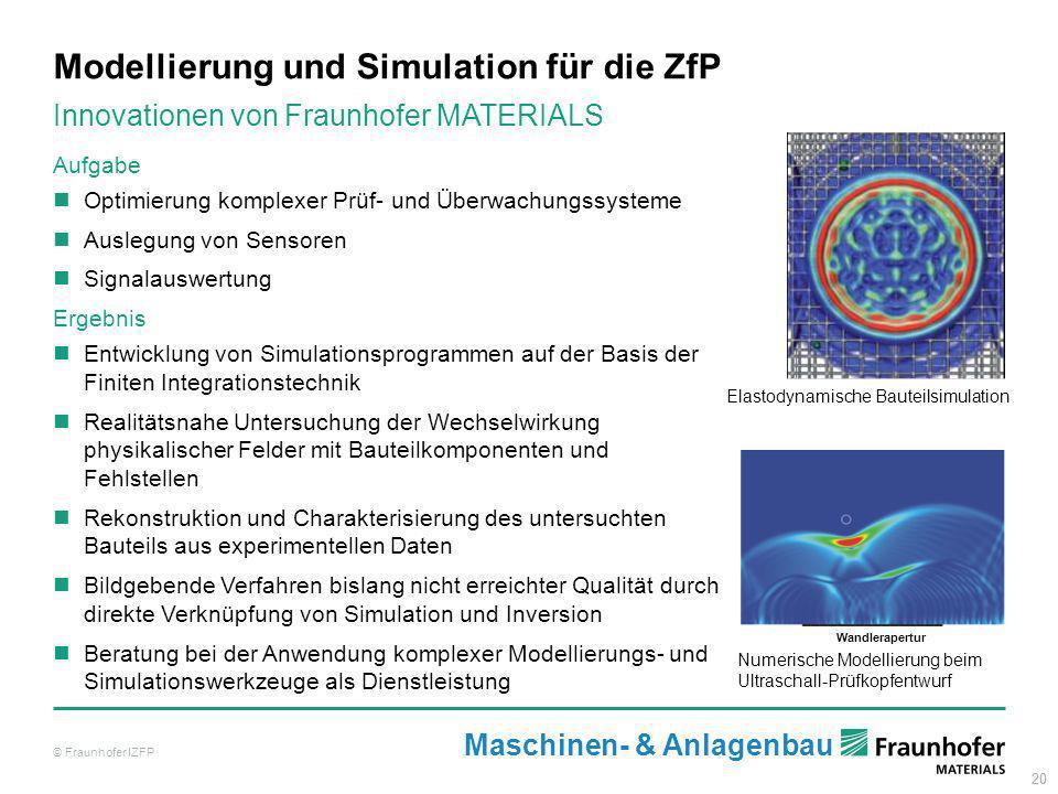 Modellierung und Simulation für die ZfP