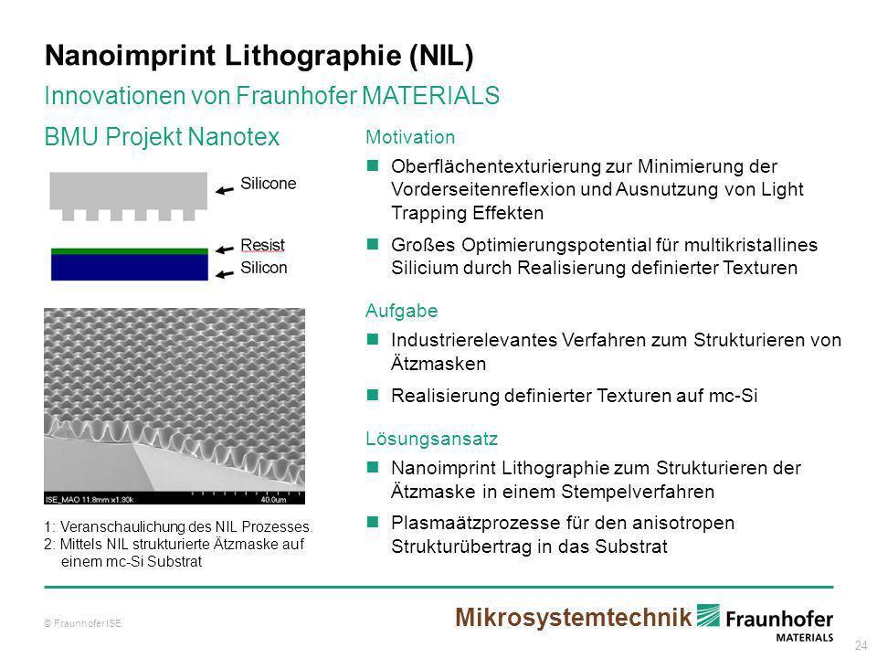 Nanoimprint Lithographie (NIL)