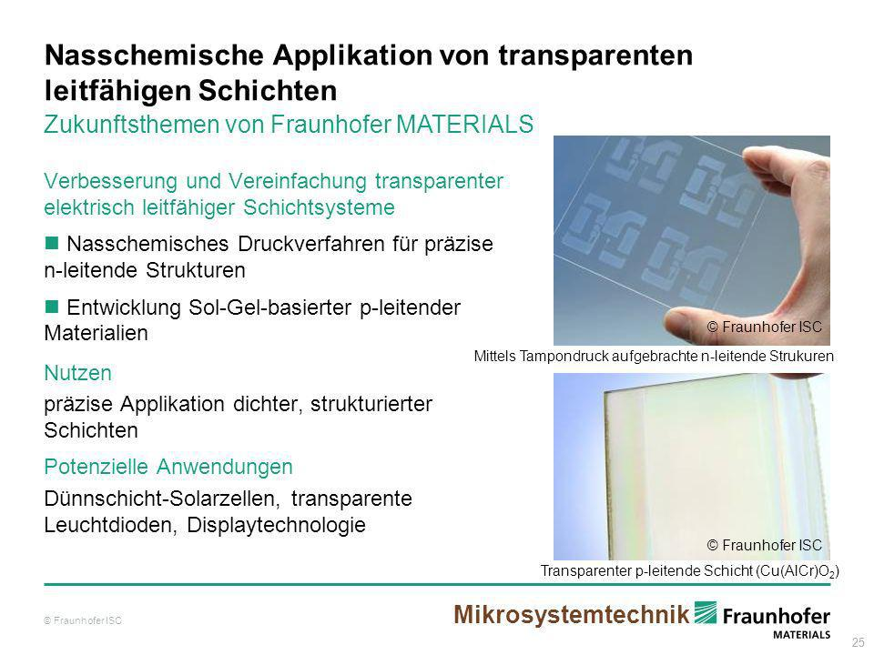 Nasschemische Applikation von transparenten leitfähigen Schichten